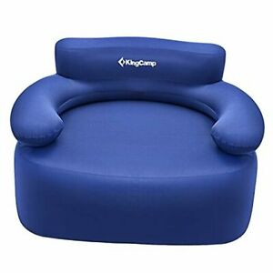 Folding Air Sofa Chair Support Up to 660 lbs-Waterproof, Blue-single
