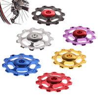2Pcs 11T Bike MTB Aluminum Alloy RS Bearing Jockey Wheel Rear Derailleur Pulleys