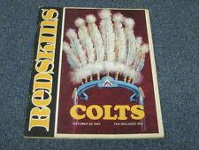 Oct 29, 1967 Baltimore Colts vs Washington Redskins Official Program