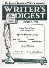 WRITER'S DIGEST August 1933 - Ghost writing, Stories Children Like Best