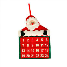 1x Christmas Santa Claus Advent Calendars Countdown Xmas Decor Fabric Gifts