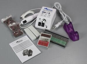 Sina Elektrische Nagelfeile weiß + Bits Nagelfräser Maniküre Pediküre Set PS3-S2