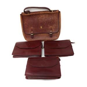 Cartier Leather Brief Case Clutch 4 pieces set 521386