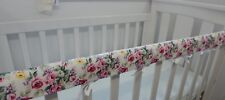 Cot Rail Cover Shabby Roses Crib Teething Pad  x 1