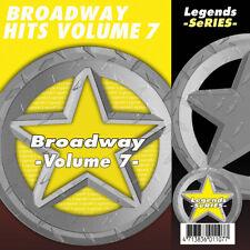 Broadway Musical CDG CDs Broadway Legends Vol 7 Karaoke