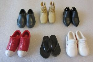 Assorted Modern Ken Doll barbie shoes lot of 6 pair