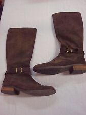 Cordani Brown Suede Leather Buckle Boots Size 38.5 Excellent!