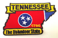 *** TENNESSEE STATE MAP *** Biker Patch PM6743 EE