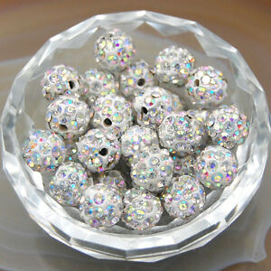 30Pcs Quality Czech Crystal Rhinestones Pave Clay Round 6mm,8mm,10mm,12mm