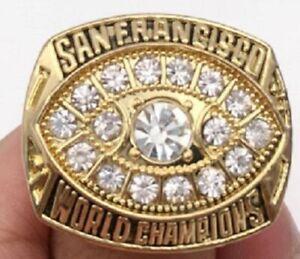 1981 SAN FRANCISCO 49ERS Super Bowl Championship Ring 18k GP. Size 11 *USA*