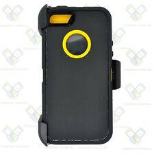 For iPhone 5/ 5S /SE Defender Case Cover [Belt Clip Fits Otterbox] Black Yellow