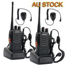2X Baofeng BF-888S 400-470MHz Two-way Radio Walkie Talkie + Handheld Speaker Mic
