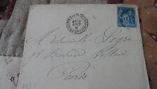 Enveloppe + Sage 15c YT 90 - de Nogent le Rotrou à Paris - 1881