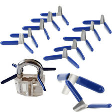 10Pcs Padlock Shim Picks Set Lock Pick Lockpicking Opener Accessories Tools Kit