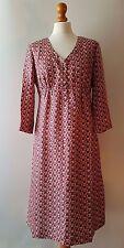 Boden dress size 12 Long 100% silk fully lined
