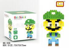 Super Mario Luigi LNO BLOCK Micro Mini Building Nano Block LOZ Iblock Toy Gift