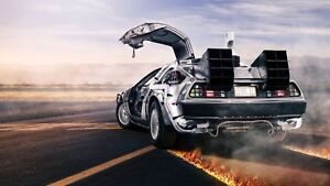 Back to the Future Car Poster