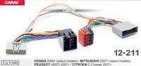 ISO T- Kabel Adapter passend für Honda Citroen Peugeot Mitsubishi für Parrot THB