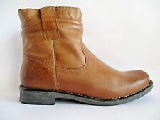 Pier One Stiefeletten Boots Winterstiefel Leder Cognac Gr.39 A84