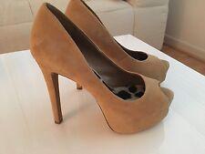 Jessica Simpson Women's Shoes Pumps Heels Platform Nude-Sand Suede Size 6.5