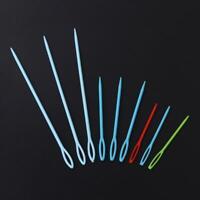 9Pcs Plastic Crochet Hooks Knitting Needles Sewing Tools Needlework Craft New