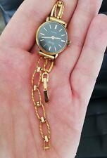 Montre vintage femme AURORE Quartz plaqué or jaune