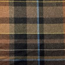 MAHARAM 100% WOOL UPHOLSTERY FABRIC EXAGGERATED PLAID/FIRTH  PAUL SMITH 2.75 YDS