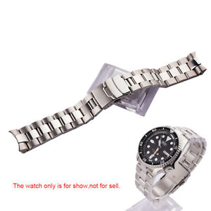 22mm 316L Stainless Steel Solid Curved Watch Band Bracelet For SEIKO SKX 007/009