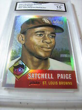 SATCHEL PAGE BROWNS 2001 TOPPS ARCHIVES RESERVE '53 REPRINT # 63 GRADED 10
