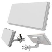 Flachantenne H30 D4 QUAD Megasat + Fensterhalterung HD Sat Anlage für 4 TV Self