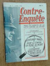 Contre-enquête, tous les aspects de la lutte contre le crime, n°2 (avril 1952)