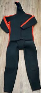 Vintage Divers Hooded Beavertail Jacket Wetsuit Neoprene 2 pcs.