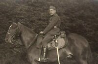 BELGIAN CAVALRY WW1 WAR HORSE HEAVY SWORD ANTIQUE RPPC PHOTO POSTCARD