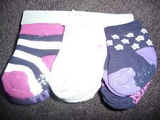 NWT Carters Girl 0-3 Month Socks 6 pair socks purple prints NEW