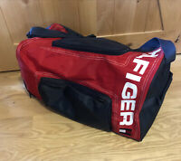 Tommy Hilfiger Gym Duffel Overnight Bag. Red, White & Blue Travel Luggage Tote