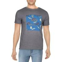RVCA Mens Shirt Gray Size Large L Graphic Crew Cranes Fill ATW Tee $27#176