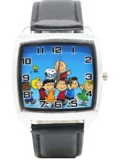 Charlie Brown and Snoopy W/ Cast Genuine Leather Band WRIST WATCH