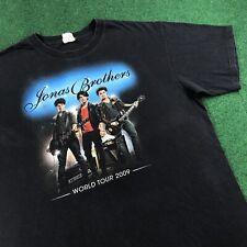 Vtg 00S Jonas Brothers World Tour 2009 Pop Hip Hop Rock Band T Shirt Tee Mens L