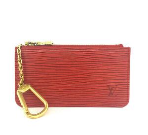 Louis Vuitton Epi Pochette Cles Red Leather Wallet Coin Purse /F0521