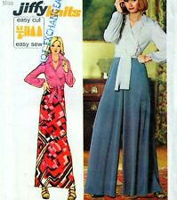 """EASY Vintage 70s PALAZZO PANTS Blouse SKIRT SEWING PATTERN Bust 32.5"""" W25"""" Retro"""