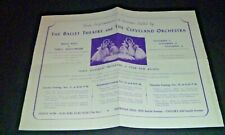 Vintage Cleveland Orchestra Ballet Theatre - Russian Ballet Advertisement 40s