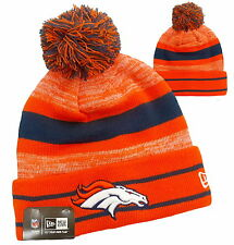 DENVER BRONCOS BEANIE NEW ERA LONG CUFF BRONCOS SOUVENIR NFL THICK KNIT HAT