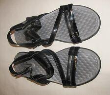 CLARKS Privo Sonar Pioneer Black Patent Slingback Sandals Size 8 M