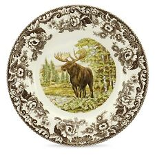 "Spode Woodland Moose 10.5"" dinner plate Made in England"