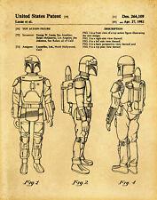 Boba Fett Star Wars Official US Patent Art Reprint (11x14)
