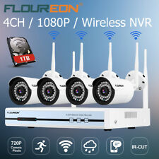 Floureon 1TB HDD + 4CH Wireless 1080P NVR Outdoor IP Camera CCTV Security System