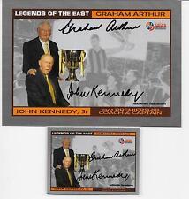 HALL OF FAME LEGEND SIGNATURES/ KENNEDY & ARTHUR 2 CARD SET / OVERSIZE & REGULAR