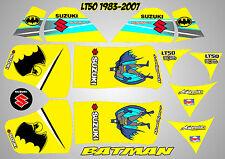 suzuki lt50 quad graphics stickers decals lt 50 laminated batman yellow lt 50