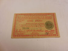 Philippines Emergency Currency Negros Currency Board One Peso - # 59396