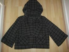 Womens Size 14 Blue/Brown Cropped Jacket from Top Shop